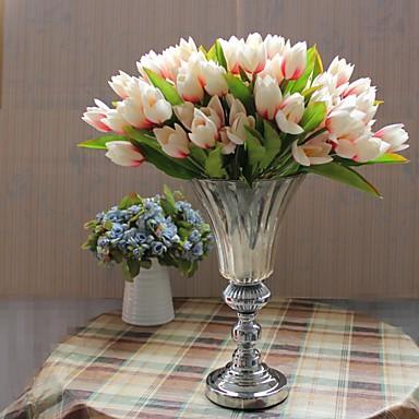 Kunstbloemen 1 Tak Moderne Style Tulpen Bloemen voor op tafel