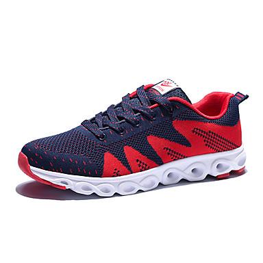 Sneakers-Tyl-Komfort-Herre-Sort Blå Orange-Fritid-Flad hæl