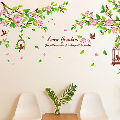 Bloemen Bomen / Bladeren Art Deco Huisdecoratie Hedendaagse Behangen , PVC/Vinyl Materiaal lijm nodig Muurschildering , Kamer