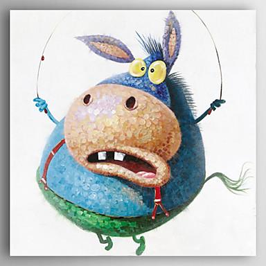 Pintura al óleo pintada a colgar Pintada a mano - Animales Modern Lona