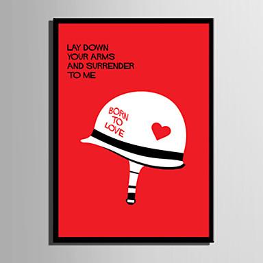 E-HOME® Framed Canvas Art, Helmet Letter Series Framed Canvas Print One Pcs