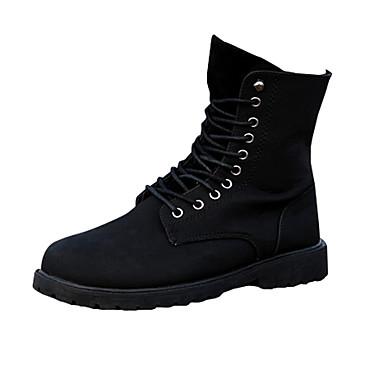 Heren Schoenen Weefsel Herfst Winter Comfortabel Laarzen Veters Voor Causaal Zwart Bruin