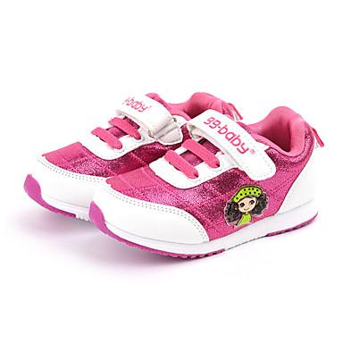Sneakers-Stof-Komfort-Piger-Rosa Rød-Fritid-Flad hæl