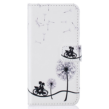 Funda Para Apple iPhone 7 / iPhone 6 / Funda iPhone 5 Cartera / Soporte de Coche / con Soporte Funda de Cuerpo Entero Diente de león Dura Cuero de PU para iPhone 7 Plus / iPhone 7 / iPhone 6s Plus