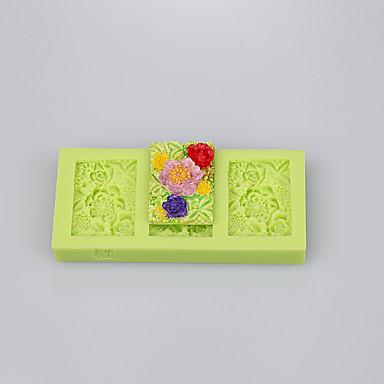 forma cuadrada hermoso molde de silicona muffin pan molde de la torta decoración de la torta conjunto ramdon color