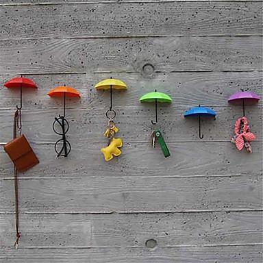 Nieuwe 3pcs haak sleutel haar pin houder organisator decoratieve gloednieuwe paraplu muur haken (random haarkleur)
