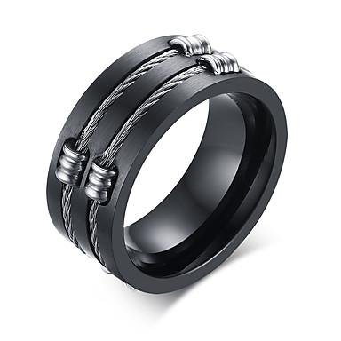 Herre Band Ring - Personalisert / Mote Svart Ringe Til Daglig / Avslappet