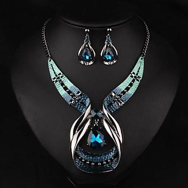 Damen Schmuckset Halskette / Ohrringe Synthetische Edelsteine Aleación Tropfen Luxus Modisch Europäisch Party Alltag Normal Ohrringe