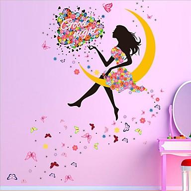 Tegneserie Veggklistremerker Fly vægklistermærker Dekorative Mur Klistermærker, PVC Hjem Dekor Veggoverføringsbilde Vegg