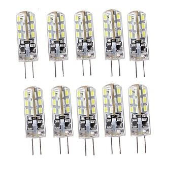 YouOKLight 10pçs 75lm G4 Luminárias de LED  Duplo-Pin T 24 Contas LED SMD 3014 Decorativa Branco Quente Branco Frio 12V