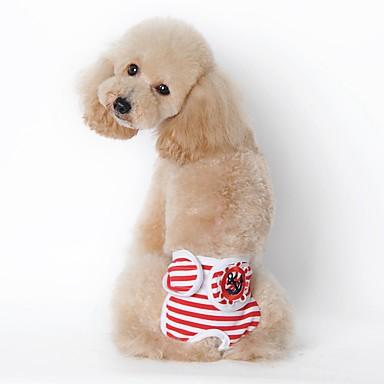 Perro Pantalones Ropa para Perro Marinero Negro Rojo Azul Algodón Disfraz Para mascotas Hombre Mujer Casual/Diario