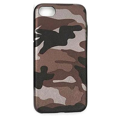 Capinha Para iPhone 7 Plus iPhone 7 iPhone 6s Plus iPhone 6 Plus iPhone 6s iPhone 6 iPhone 5 Apple Ultra-Fina Capa traseira Côr Camuflagem