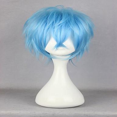 Synthetische Haare Perücken Locken Karnevalsperücke Halloween Perücke Cosplay Perücke Kurz Blau