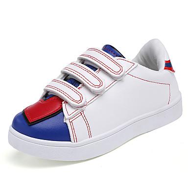 Jenter-PU-Flat hæl-Komfort-Treningssko-Friluft Fritid Sport-Svart Hvit