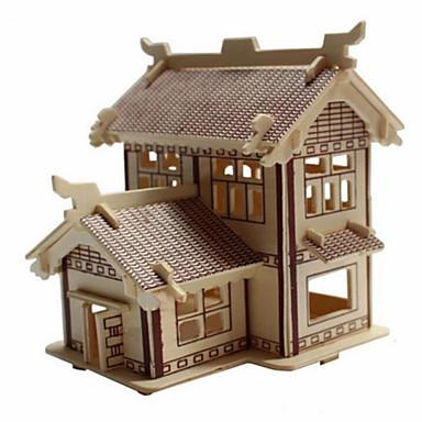 jigsaw zagonetke 3D puzzle Drvene puzzle Građevni blokovi DIY igračke Kuća Drvo