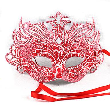 1PC meio padrões de máscara facial para o dia das bruxas traje do partido cor aleatória