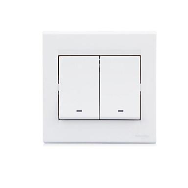 dois interruptor de parede de controle único aberto