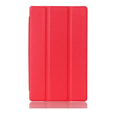hoesje Voor Lenovo Volledig hoesje tablet Cases Effen Kleur Hard PU-nahka voor