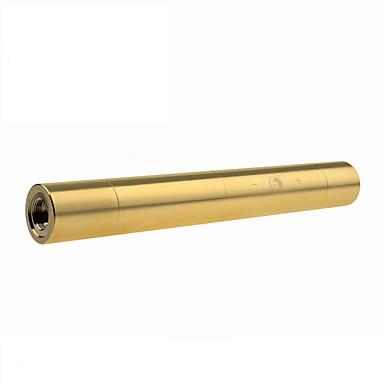 u`king ZQ-j15c blauwe laser pointer instelbare focus set (5 MW 445nm goud / zilver)