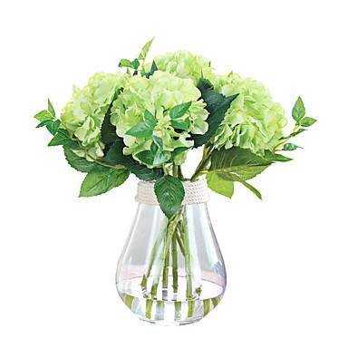 1 1 Tak Polyester Hortensia's Bloemen voor op tafel Kunstbloemen 48cm