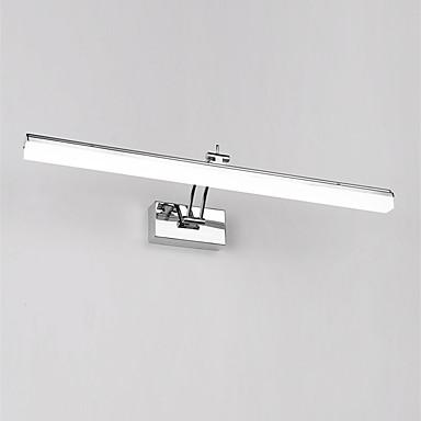 49cm modern 12w led tükör lámpa fürdőszoba fények 90-240v rozsdamentes és akril fali lámpák make-up világítás