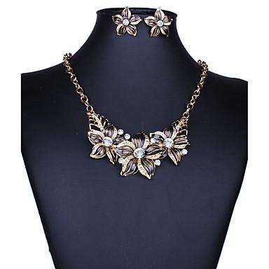 Mujer Conjunto de joyas - Importante, Vintage, Europeo Incluir Collar / pendientes Negro / Morado / Azul Para Boda Fiesta Diario / Pendientes / Collare