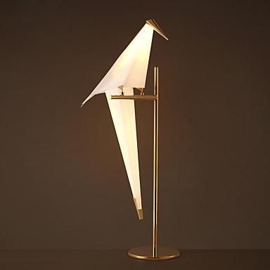 eenvoudige vintage pvc papercranes gegalvaniseerde tafellamp voor de studie / slaapkamer versieren wandlamp