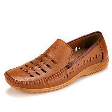 Masculino sapatos Couro Verão Mocassins e Slip-Ons Para Casual Branco Preto Amarelo