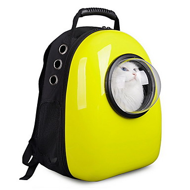 Gato Cachorro Tranportadoras e Malas Astronauta Cápsula Transportador Animais de Estimação Transportadores Portátil Respirável Fofo Sólido
