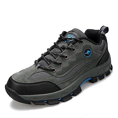 Sneakers-Ruskind-Komfort-Herre-Brun Grøn Grå-Fritid-Flad hæl