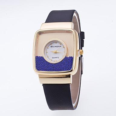 5692a1d8e7a Mulheres Relógio de Pulso Relógios Femininos com Cristais Quartzo Couro PU  Acolchoado Preta   Branco   Azul Venda imperdível   Analógico senhoras  Casual ...