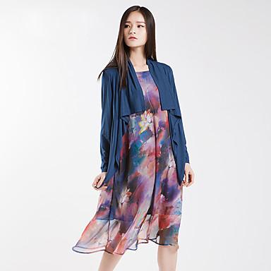 Yishidian® Dame Krave Langt Ærme Sweater & Cardigan Brun / Sort Fade-YSD1832LQ1