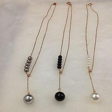 Damen Anhängerketten / Perlenkette - Perle, Titanstahl, vergoldet Personalisiert, Modisch, Hip-Hop, Hypoallergen bezaubernd Golden, Rotgold Modische Halsketten Schmuck Für Hochzeit, Party, Alltag