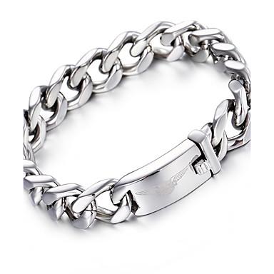 1ac054a7e1 kalen®2016 ezüst lánc karkötő divat 316L rozsdamentes acélból készült  motoros lánc karkötő férfi kiegészítők