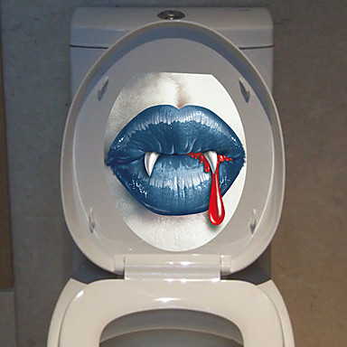 1pc kreativ personlighed boligindretningsprodukter 3d Hallowmas toilet klistermærker