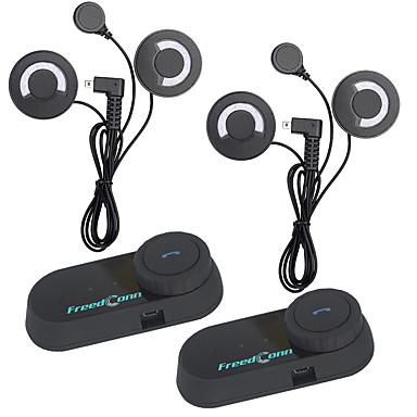 2 stuks freedconn bt bluetooth motorhelm intercom interphone headset met fm radiosoft oortelefoon t-com fm