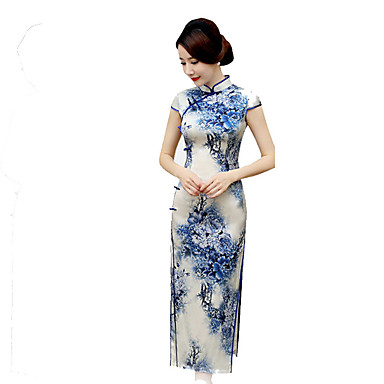Traditionell Damen Rock A-Linie Kleid Pencil Kleid Cosplay Kurzarm Normallänge