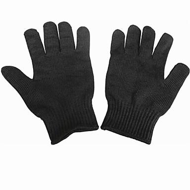 zwarte professionele beschermende snijbestendige handschoenen