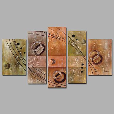 Handgeschilderde Abstract Olie schilderijen,Mediterraans Vijf panelen Canvas Hang-geschilderd olieverfschilderij For Huisdecoratie