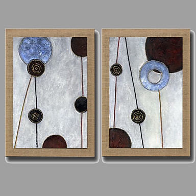 Handgeschilderde Abstract Stilleven Fantasie Bloemenmotief/Botanisch Verticaal, Modern Realisme Europese Stijl Kangas Hang-geschilderd