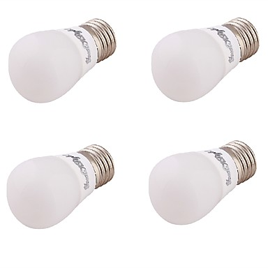 3 E26/E27 LED-bollampen A60 (A19) 6 SMD 5730 220 lm Warm wit Decoratief AC 85-265 / AC 220-240 / AC 110-130 V 4 stuks