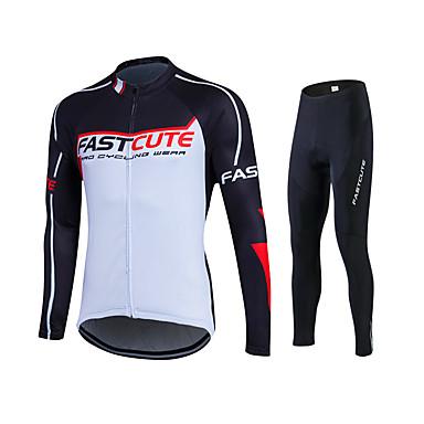 Fastcute Calça com Camisa para Ciclismo Homens Mulheres Unisexo Manga Longa Moto Camisa/Roupas Para Esporte Meia-calça Calças Moletom
