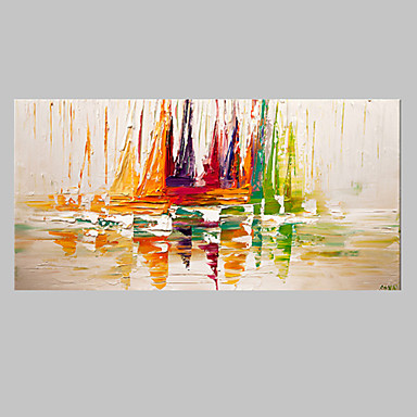 Hang oslikana uljanim bojama Ručno oslikana - Sažetak Moderna Platno