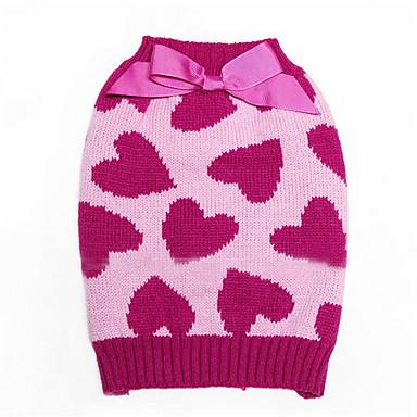 Hund Pullover Hundekleidung Herz Baumwolle Kostüm Für Haustiere Herrn Damen Lässig/Alltäglich