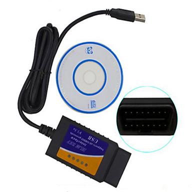 ELM327 ventas masivas instrumento de la prueba de diagnóstico OBD del coche del USB de alta calidad