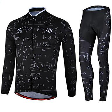 Calça com Camisa para Ciclismo Unisexo Manga Longa MotoSecagem Rápida Design Anatômico Resistente Raios Ultravioleta Vestível Respirável