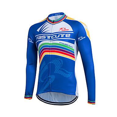 Fastcute Homens Manga Longa Camisa para Ciclismo Moto Camisa / Roupas Para Esporte, Térmico / Quente, Secagem Rápida, Respirável