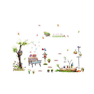 Landskap Dyr Blomster Veggklistremerker Fly vægklistermærker Dekorative Mur Klistermærker Højde klistermærker Hjem Dekor