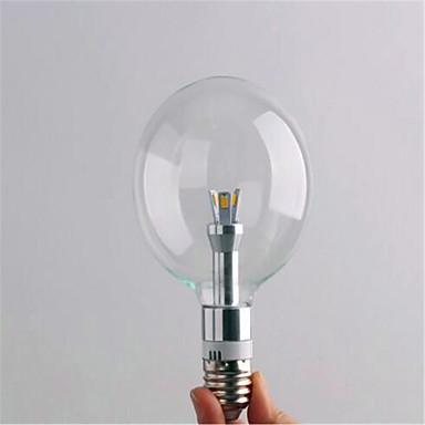 E26/E27 Lâmpada Redonda LED G80 3 leds SMD 3528 Decorativa Branco Quente Branco Frio 2700/6500lm 2700,6500(K)K AC 220-240V
