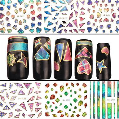 4 Nail Art Sticker 3D Nagelstickers Abstract make-up Cosmetische Nail Art Design